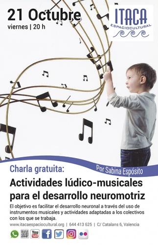 Charla gratuita: Actividades lúdico-musicales para el desarrollo neuromotriz